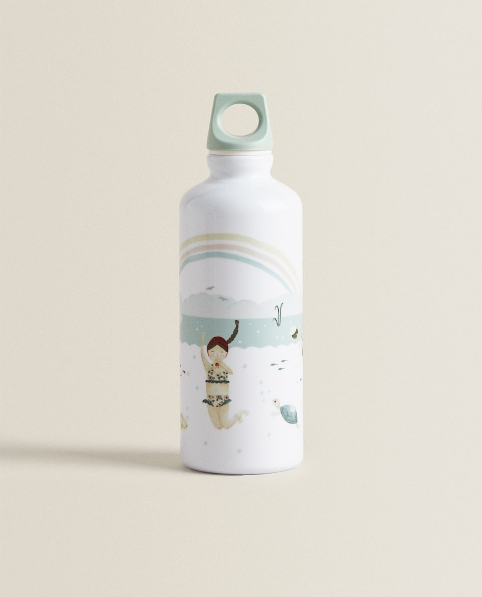 Nautical print bottle