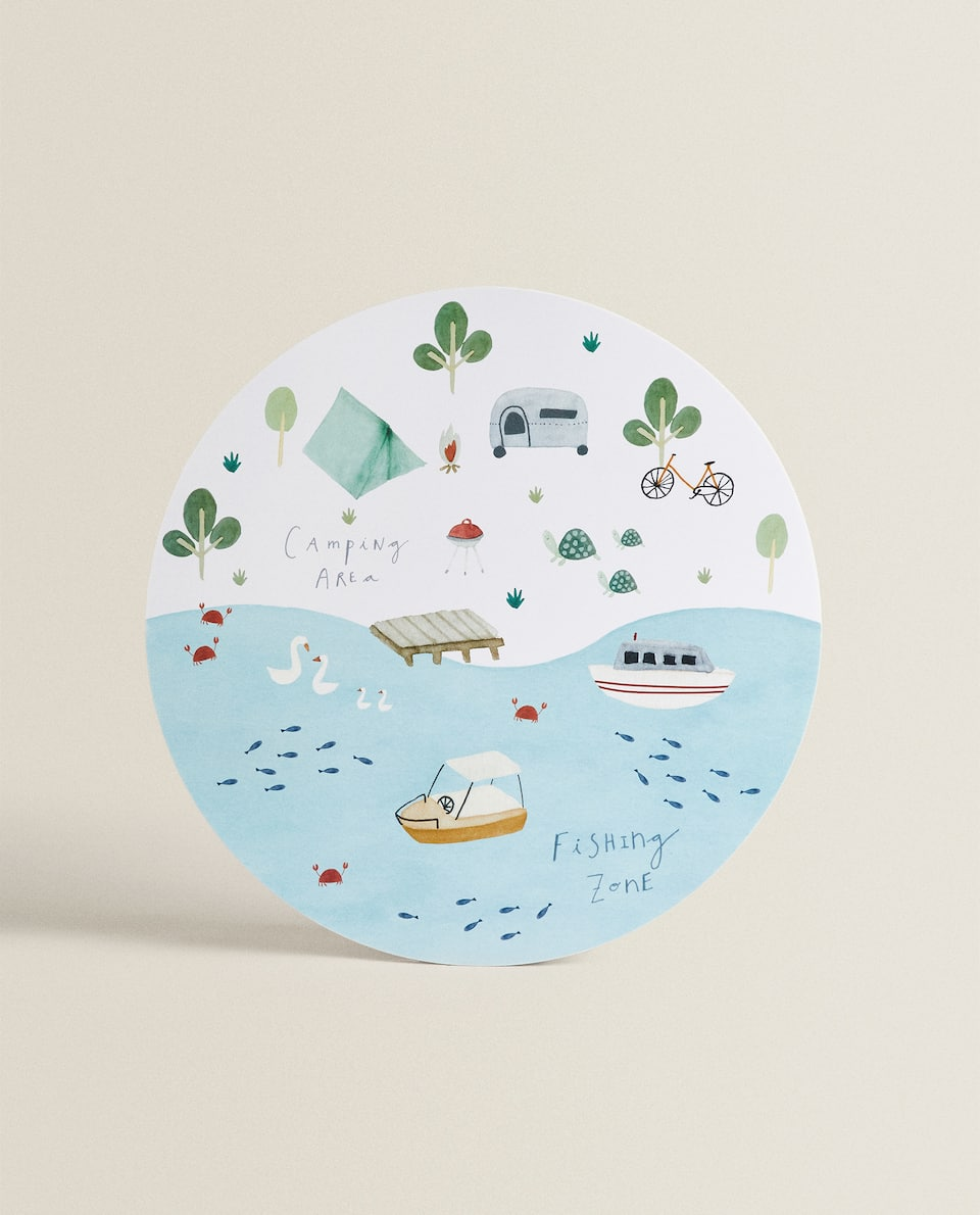 PLASTIC CAMPING PLACEMAT