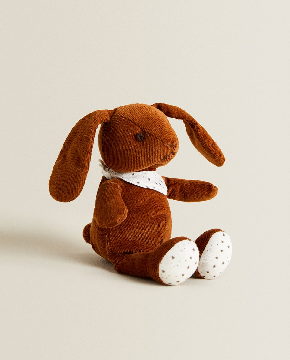 BROWN SOFT TOY BUNNY