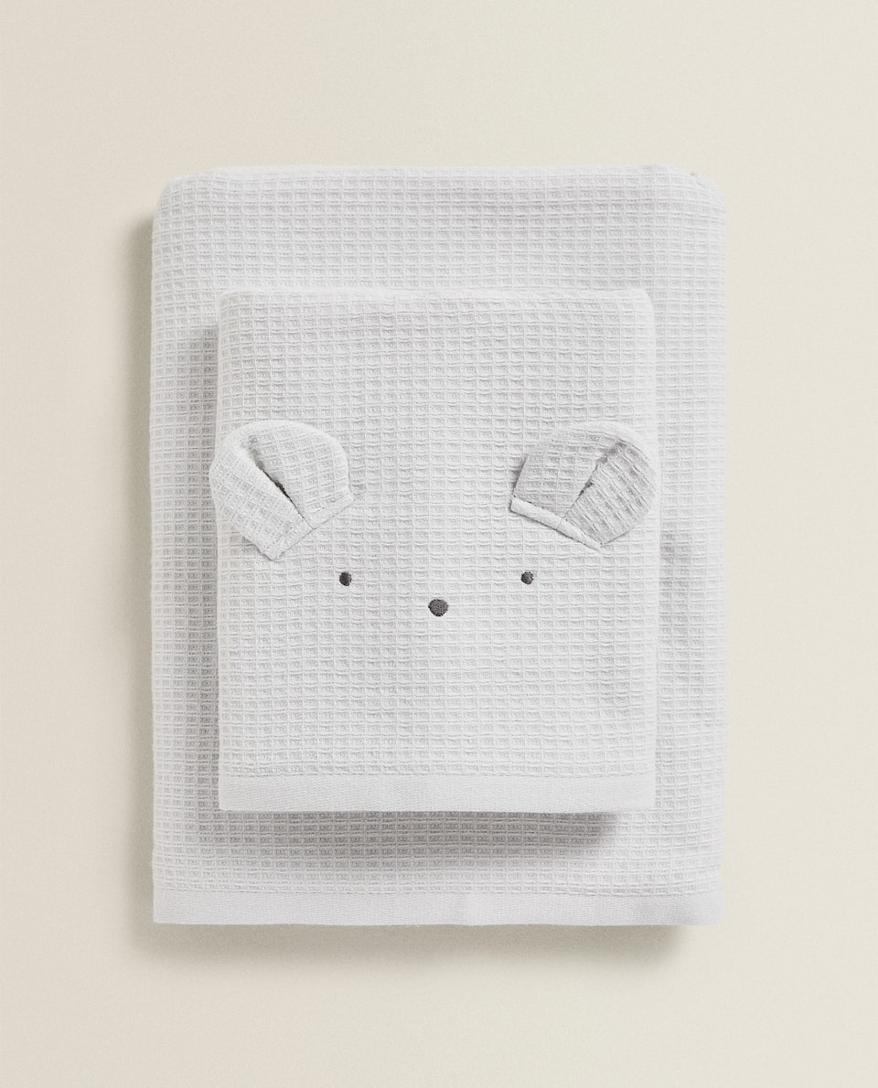 COTTON TOWEL WITH LITTLE EARS