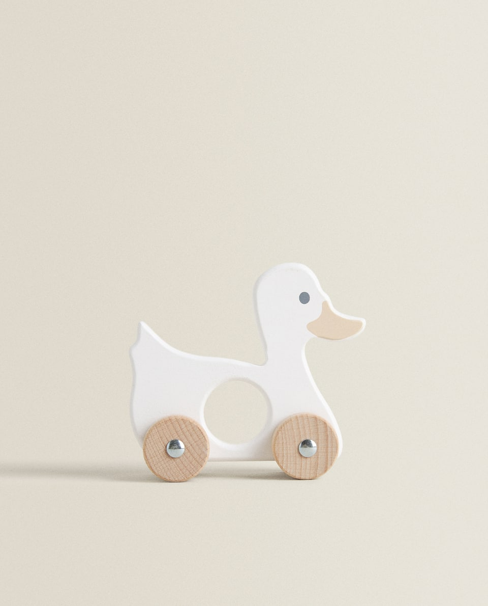 SMALL WOODEN DUCK TOY