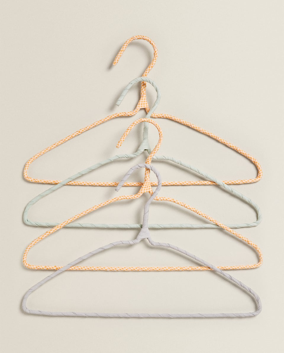 COLOURED COTTON HANGER (SET OF 4)