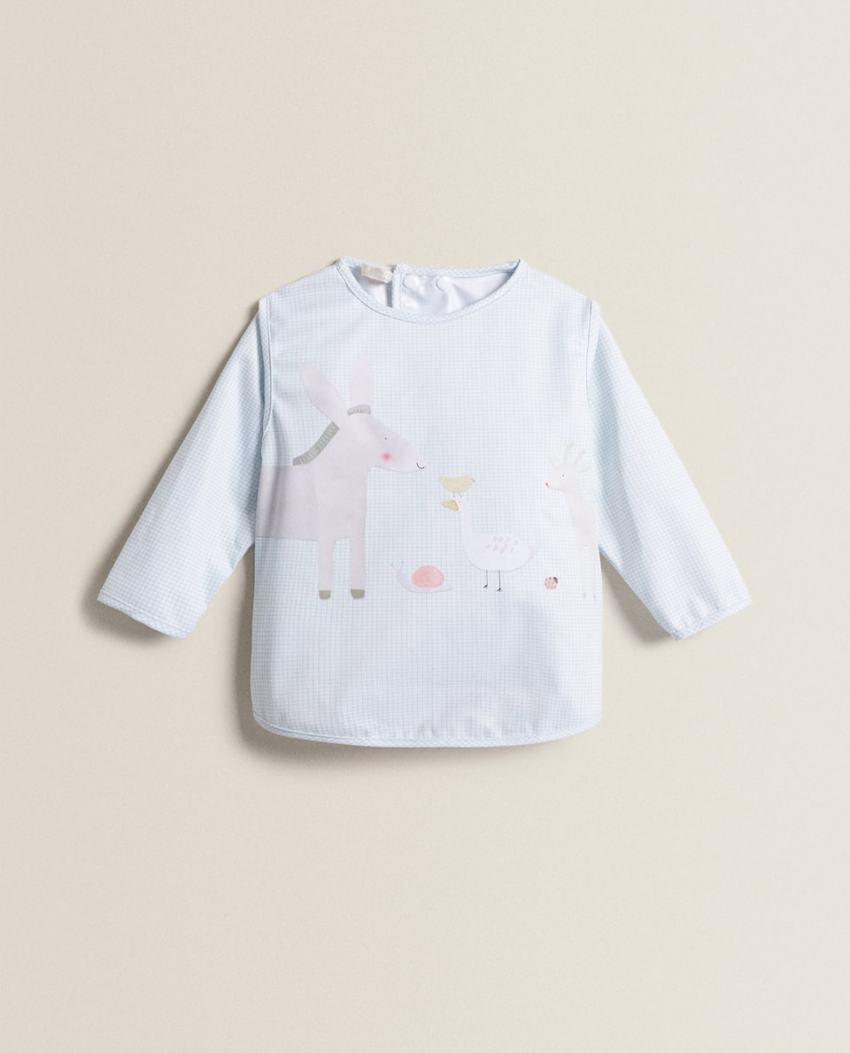 DONKEY BIB WITH SLEEVES