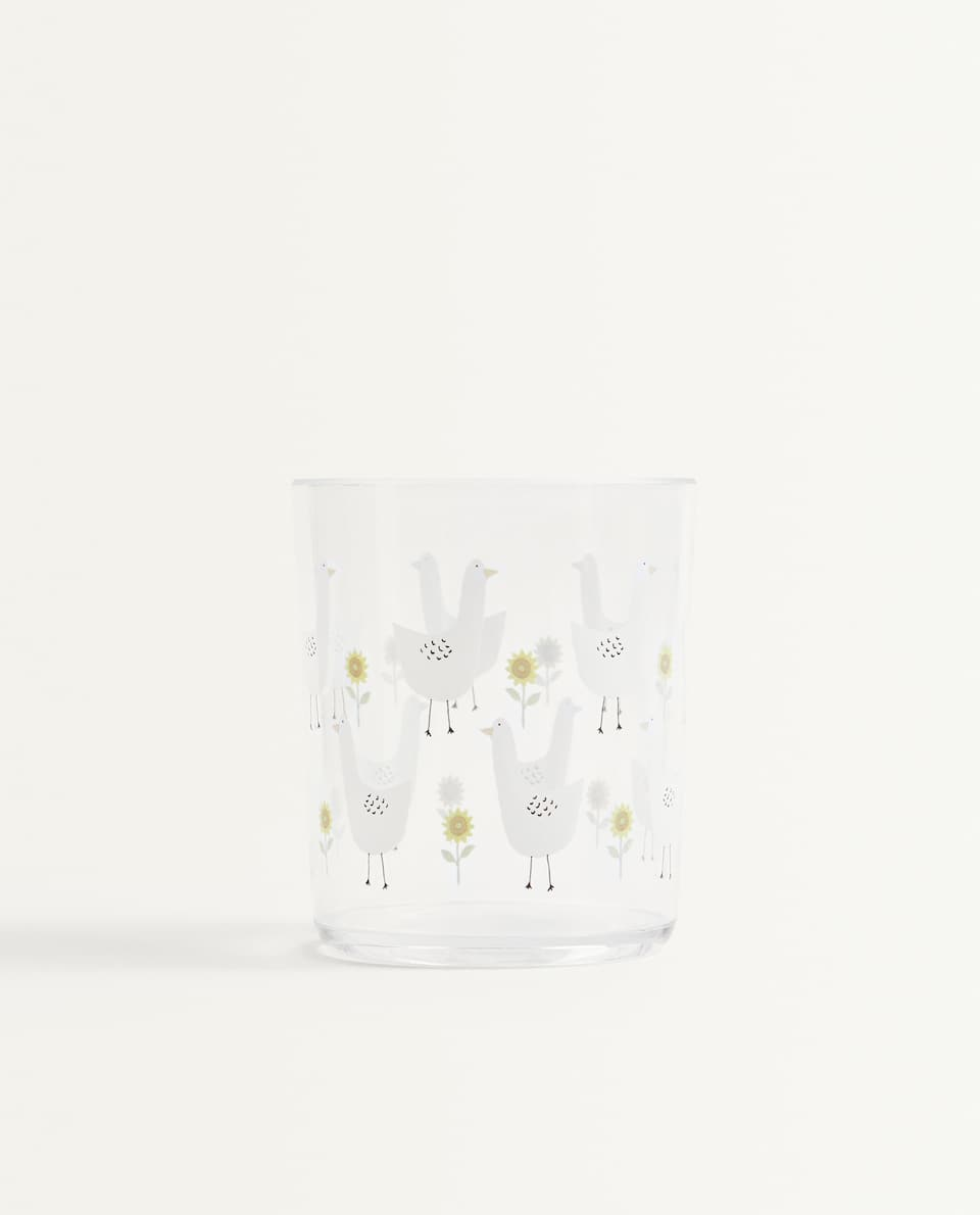 GEESE AND FLOWER TUMBLER