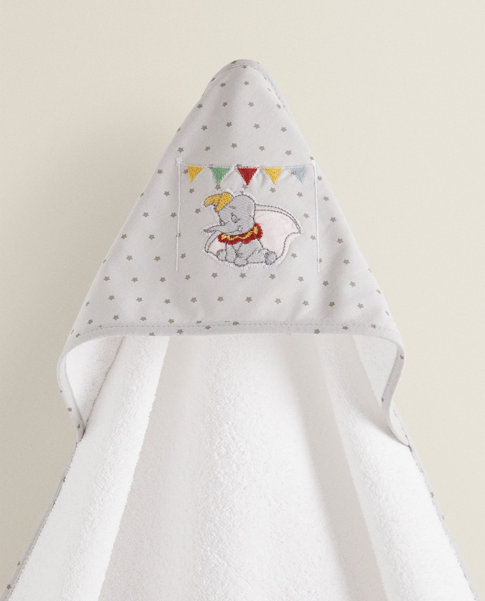 HOODED TOWEL WITH DUMBO EMBROIDERY