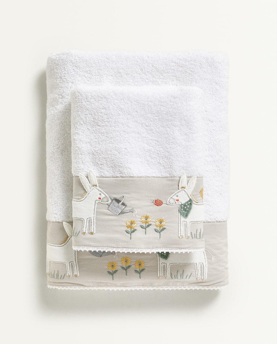 DONKEY EMBROIDERY TOWEL