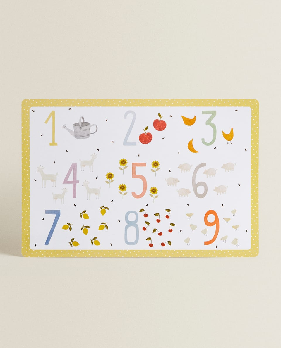 NUMBER PLACEMAT