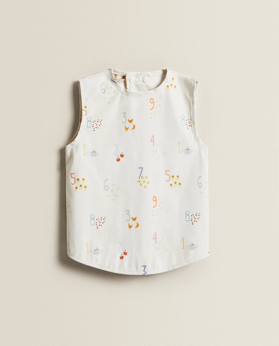 NUMBER PRINT COVERALL BIB