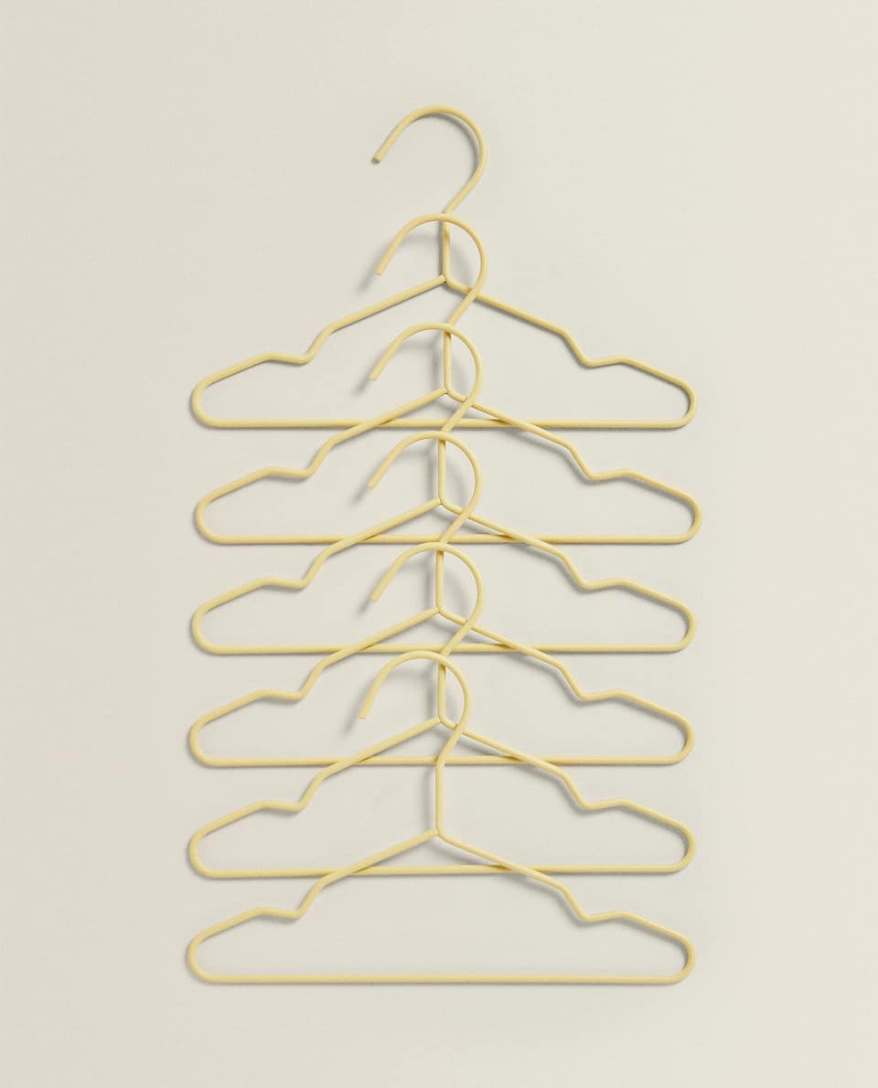 METALLIC KLEERHANGER (SET VAN 6)