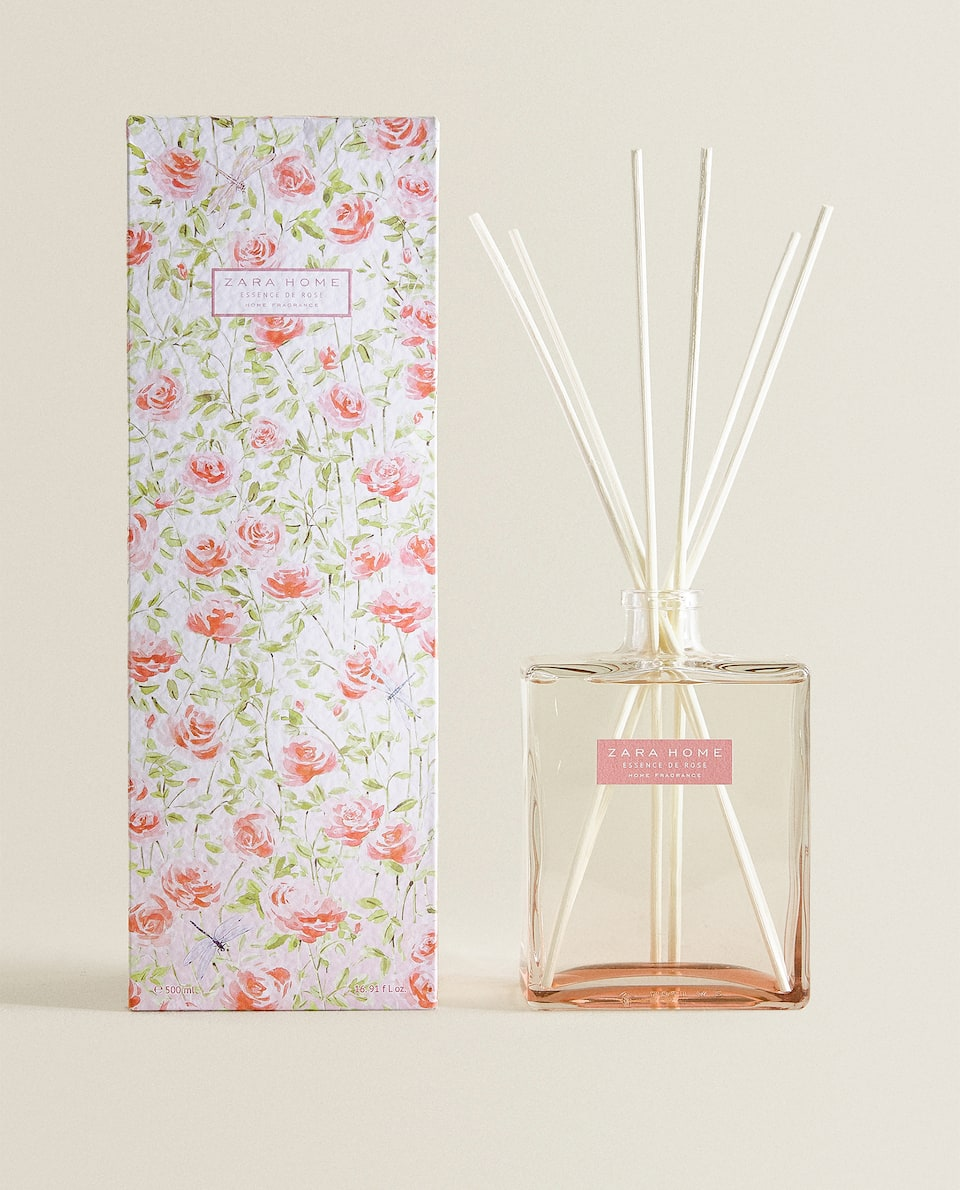DIFFUSEUR EN STICKS ESSENCE DE ROSE (500 ML)