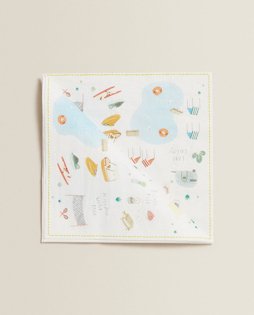 SERVIETTE EN PAPIER LAC (LOT DE 20)