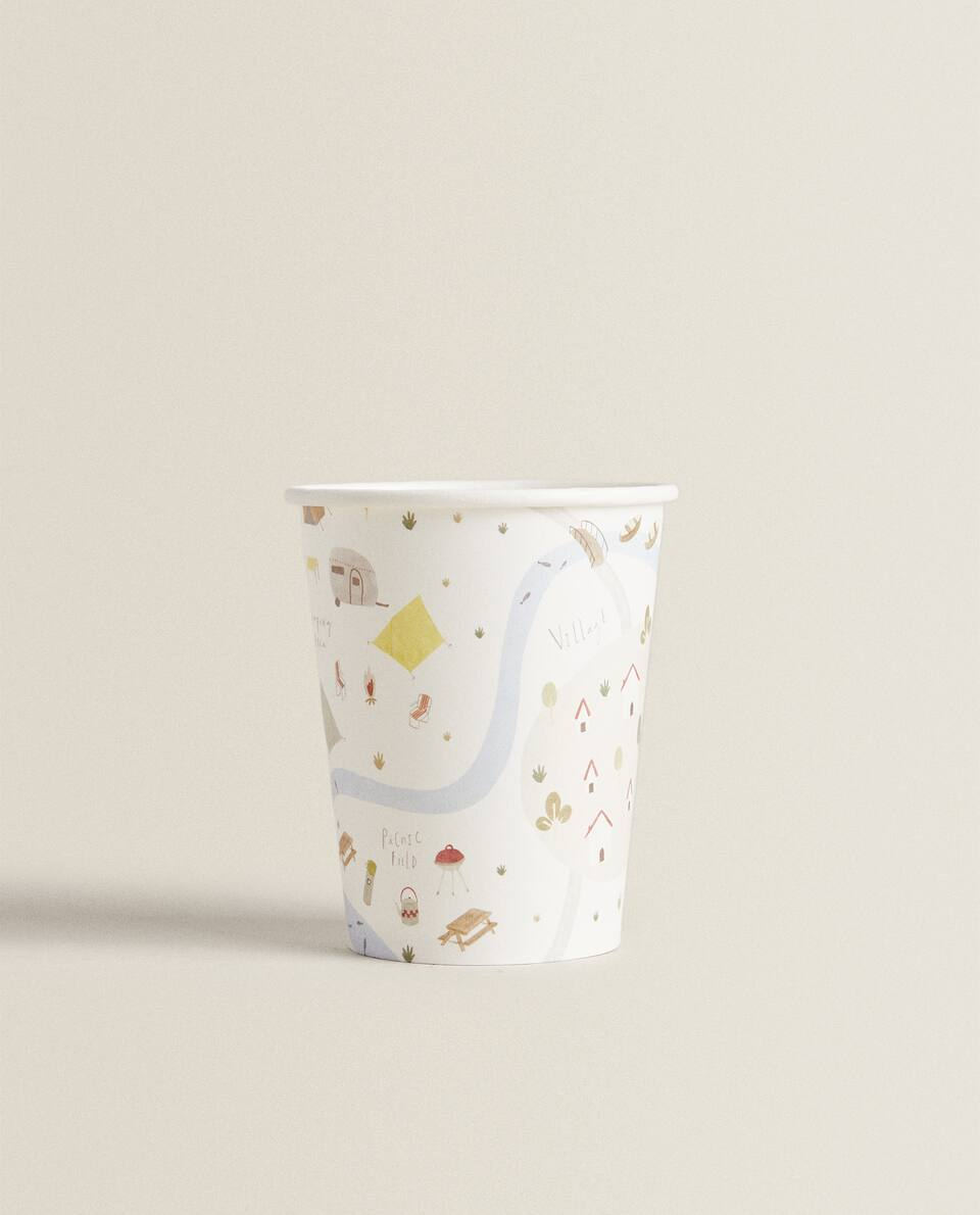 LAKE PRINT PAPER CUPS (PACK OF 12)