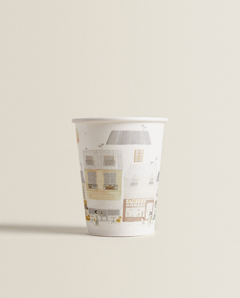 MARKET PRINT PAPER CUP (PACK OF 12)