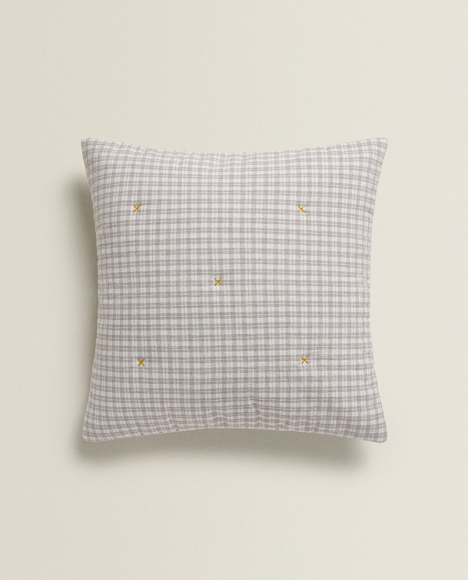KIDS CHECK CUSHION COVER