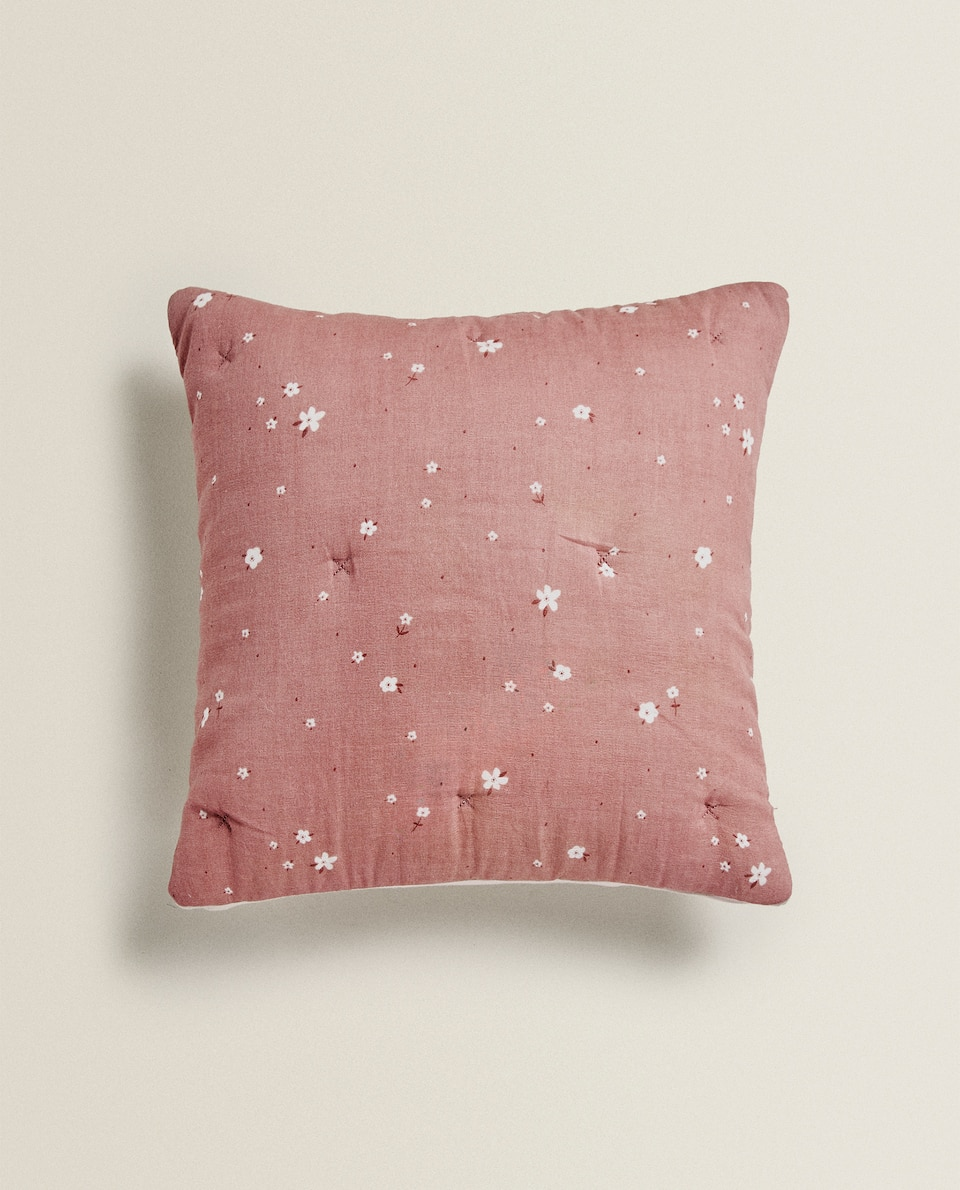 FLORAL CUSHION COVER