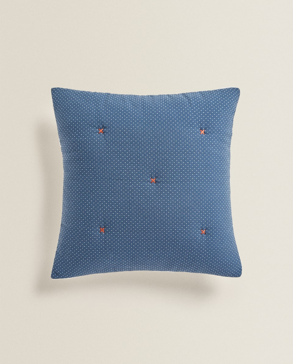 CUSHION COVER WITH TOPSTITCHING