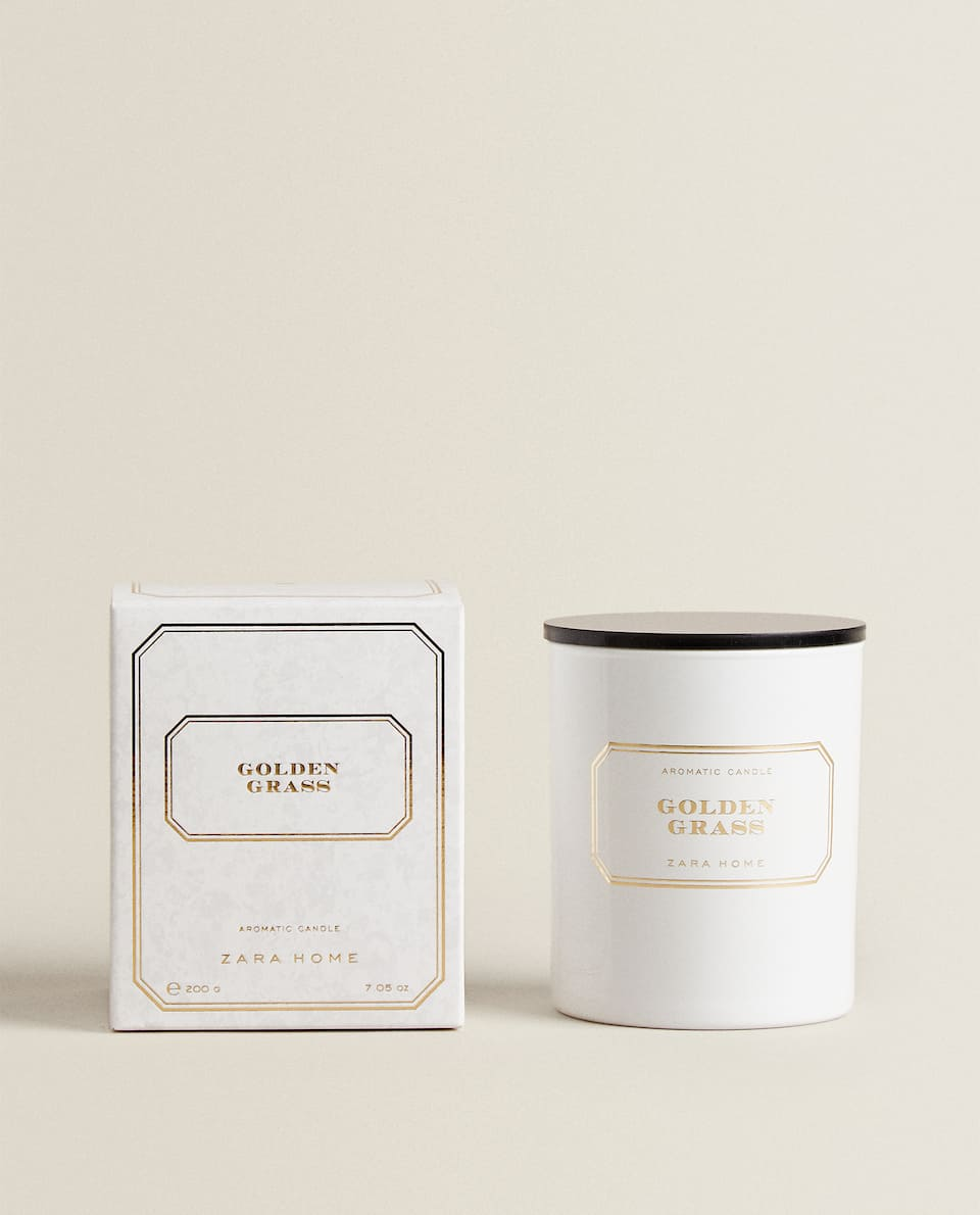 BOUGIE PARFUMÉE GOLDEN GRASS (200 G)