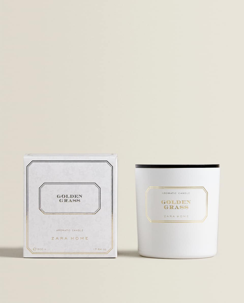 GOLDEN GRASS SCENTED CANDLE (500 G)