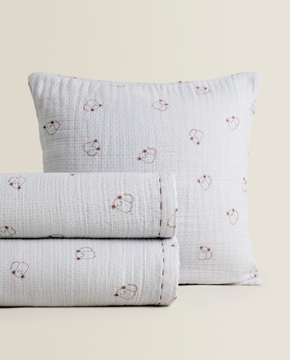 LITTLE MOUSE PRINT BEDSPREAD
