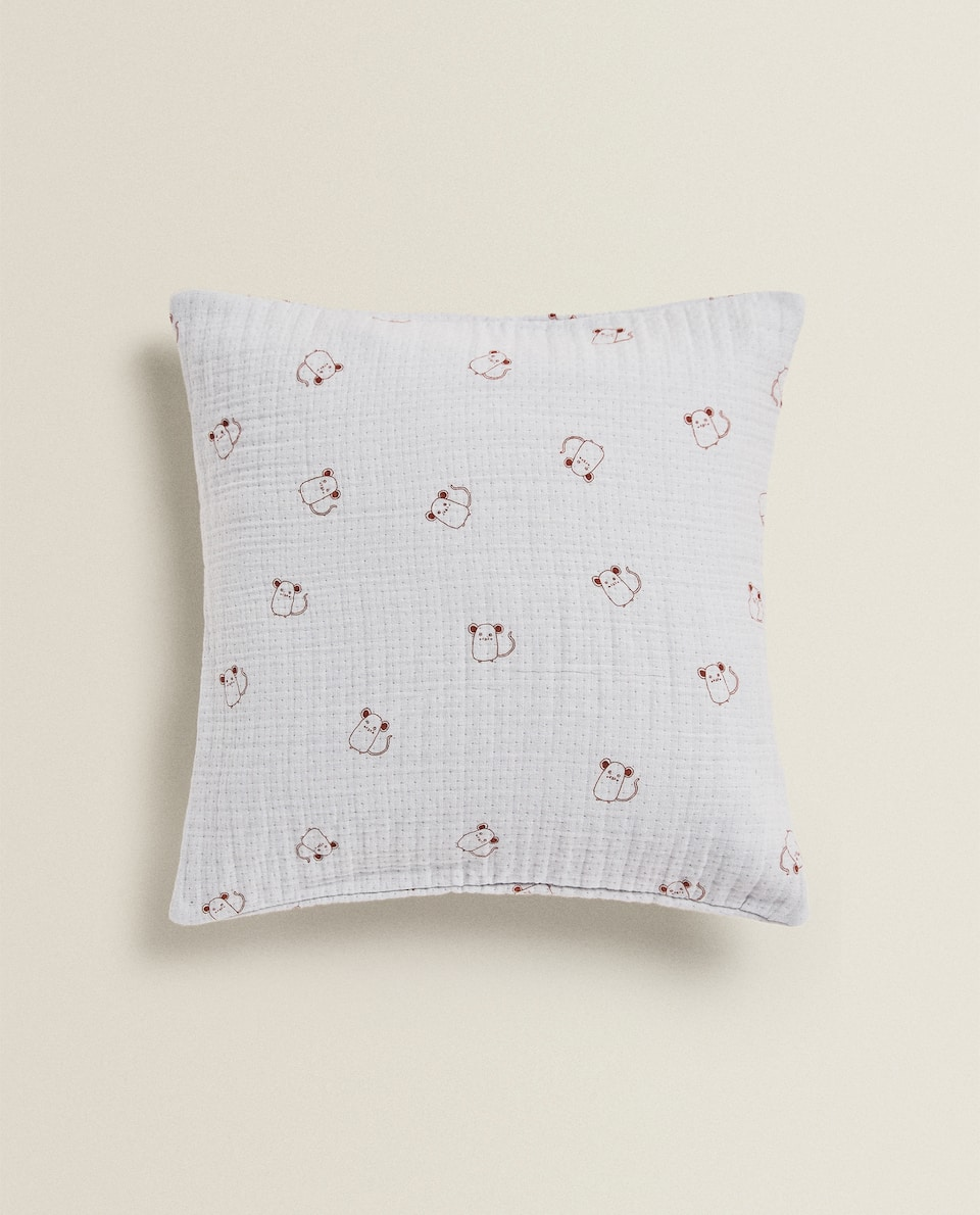 LITTLE MOUSE PRINT CUSHION COVER