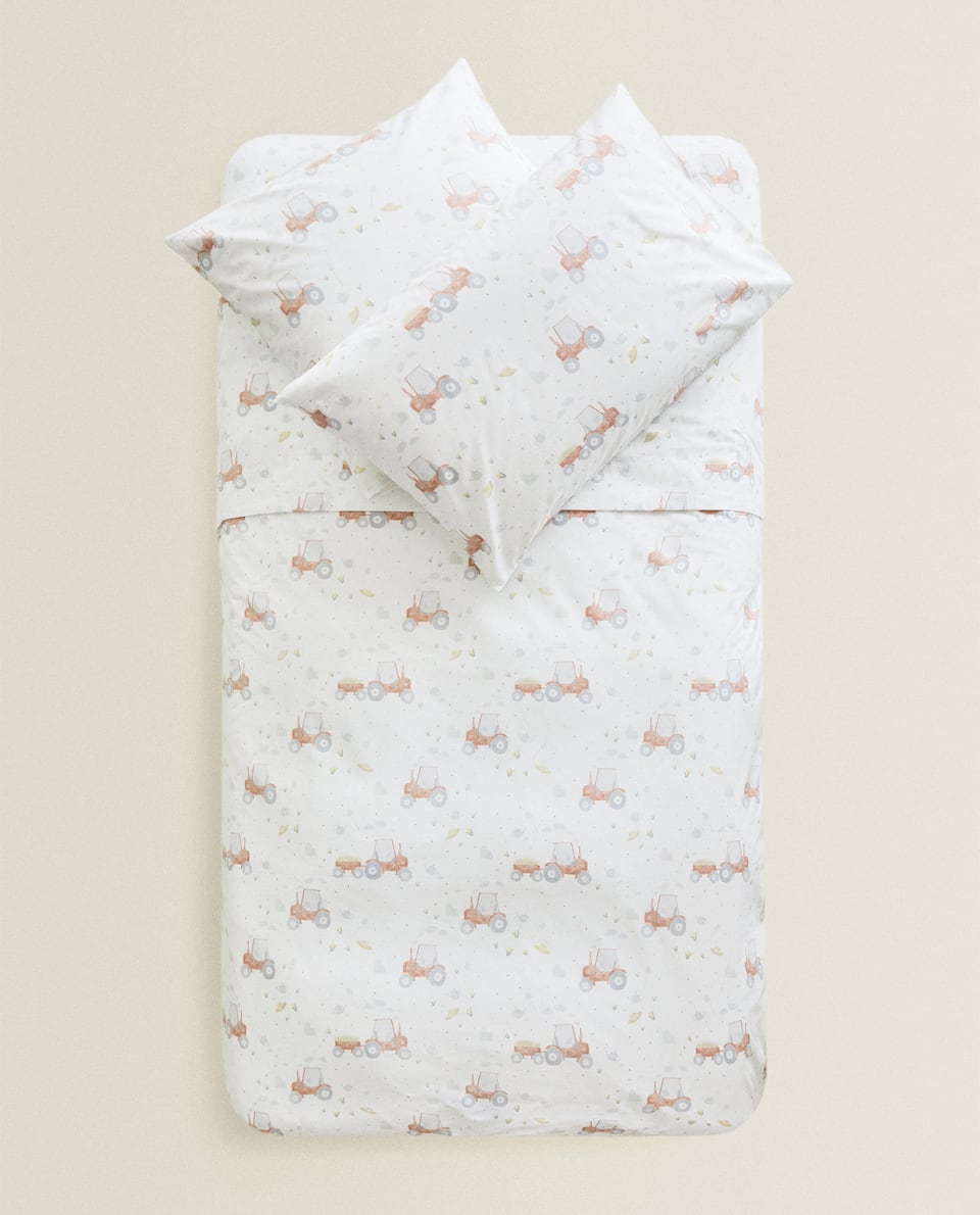 TRACTOR PRINT DUVET COVER