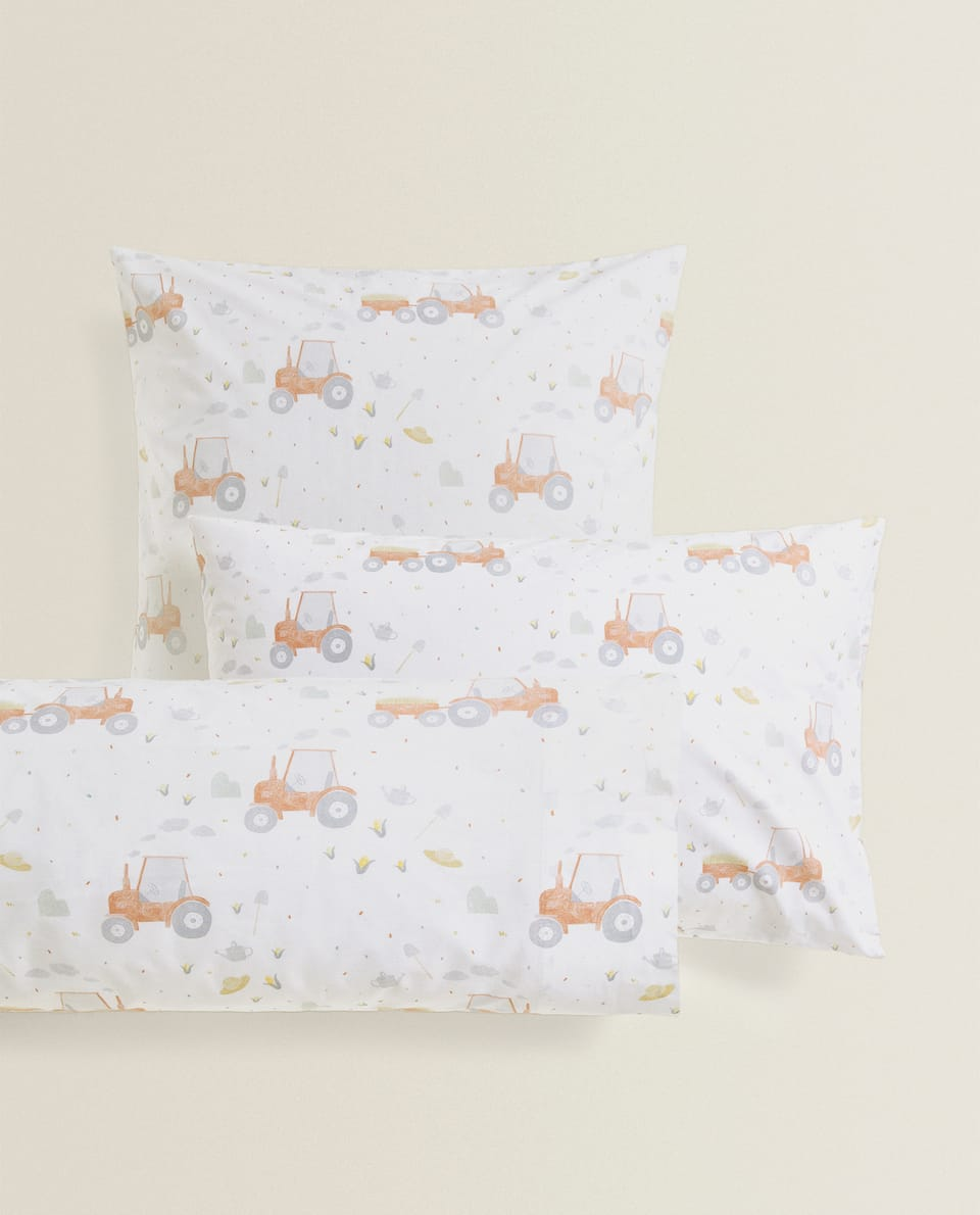 TRACTOR PRINT PILLOWCASE