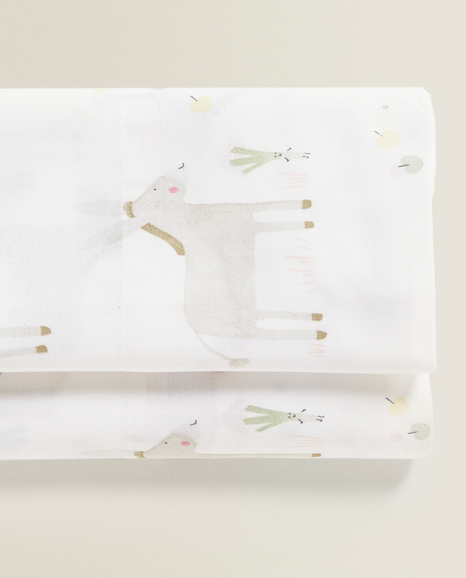HAPPY DONKEY FLAT SHEET