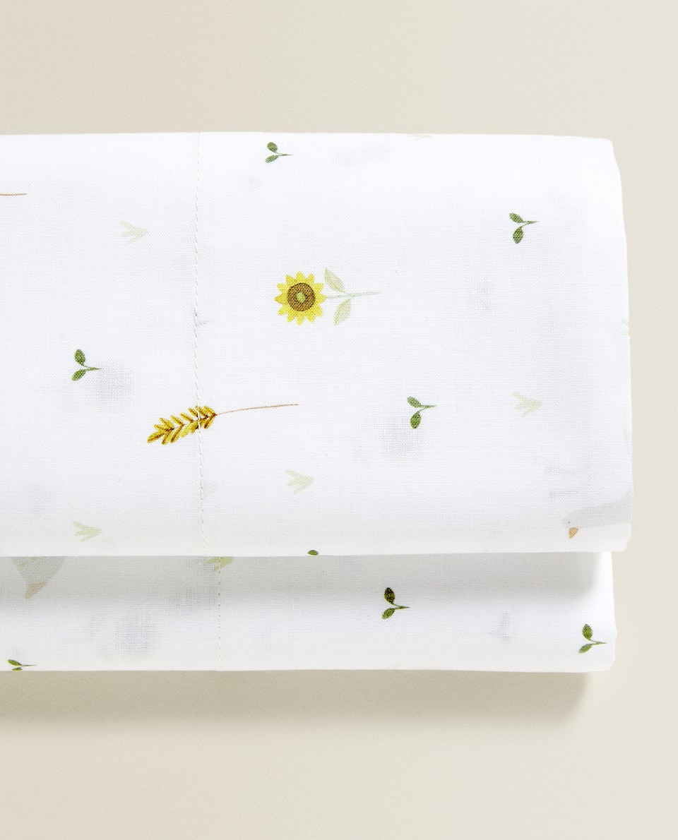 FARMYARD PRINT FLAT SHEET