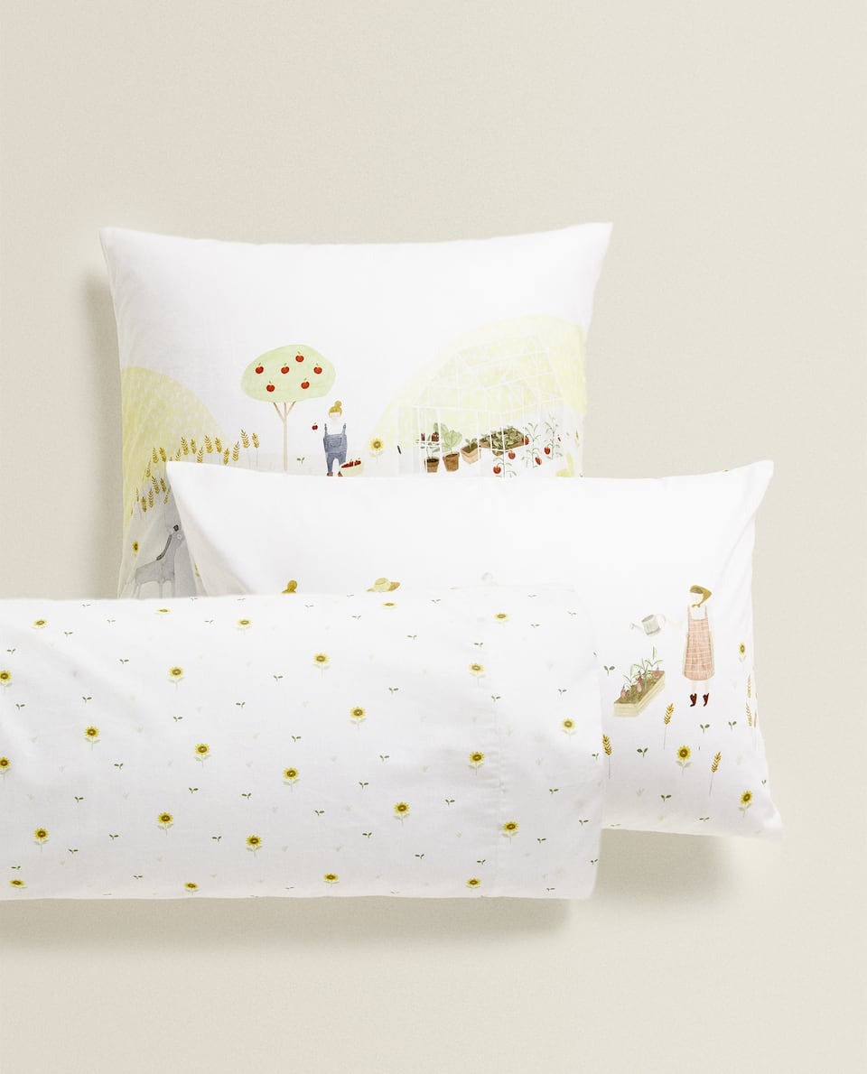 FARMYARD PRINT PILLOWCASE