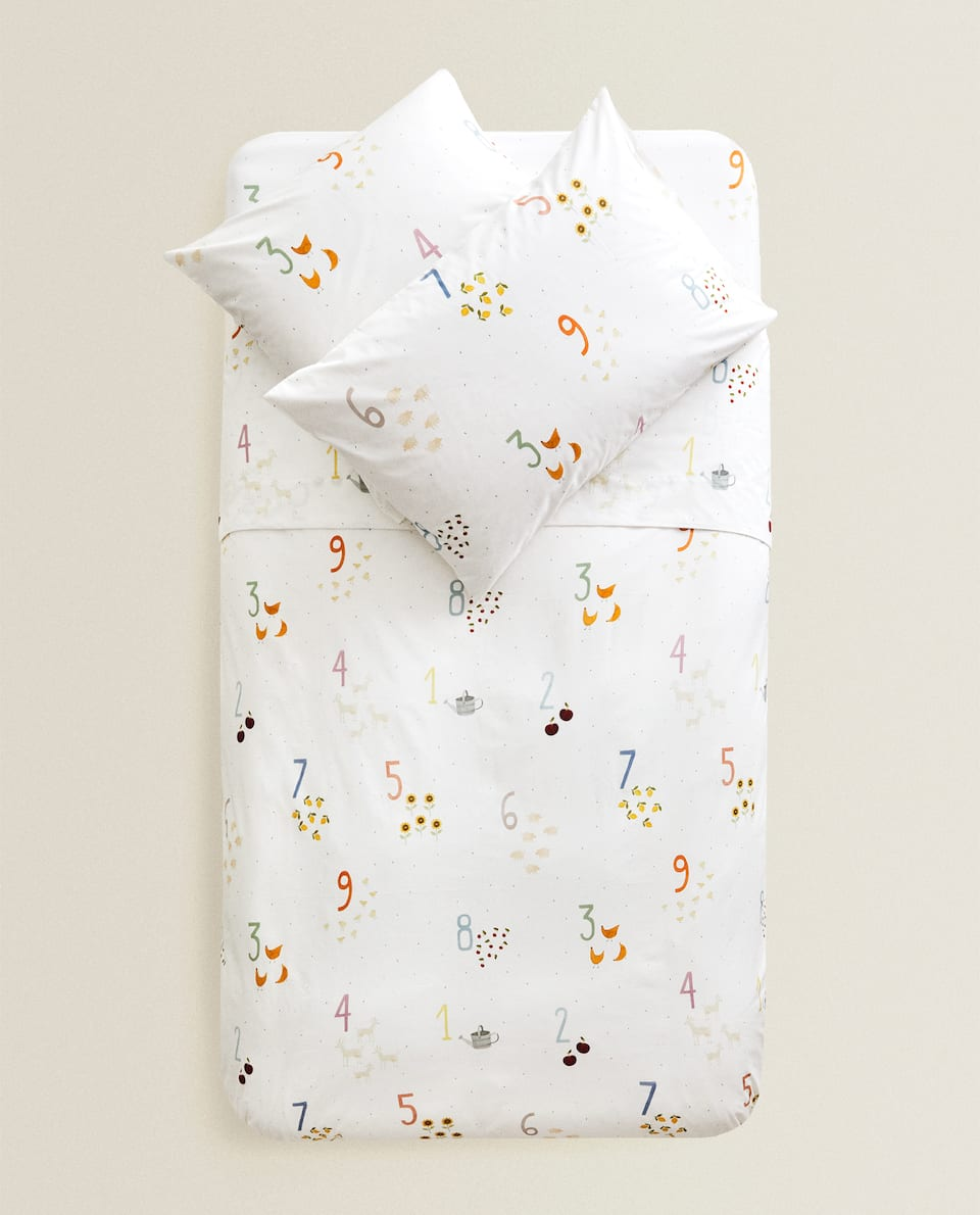 NUMBER PRINT DUVET COVER