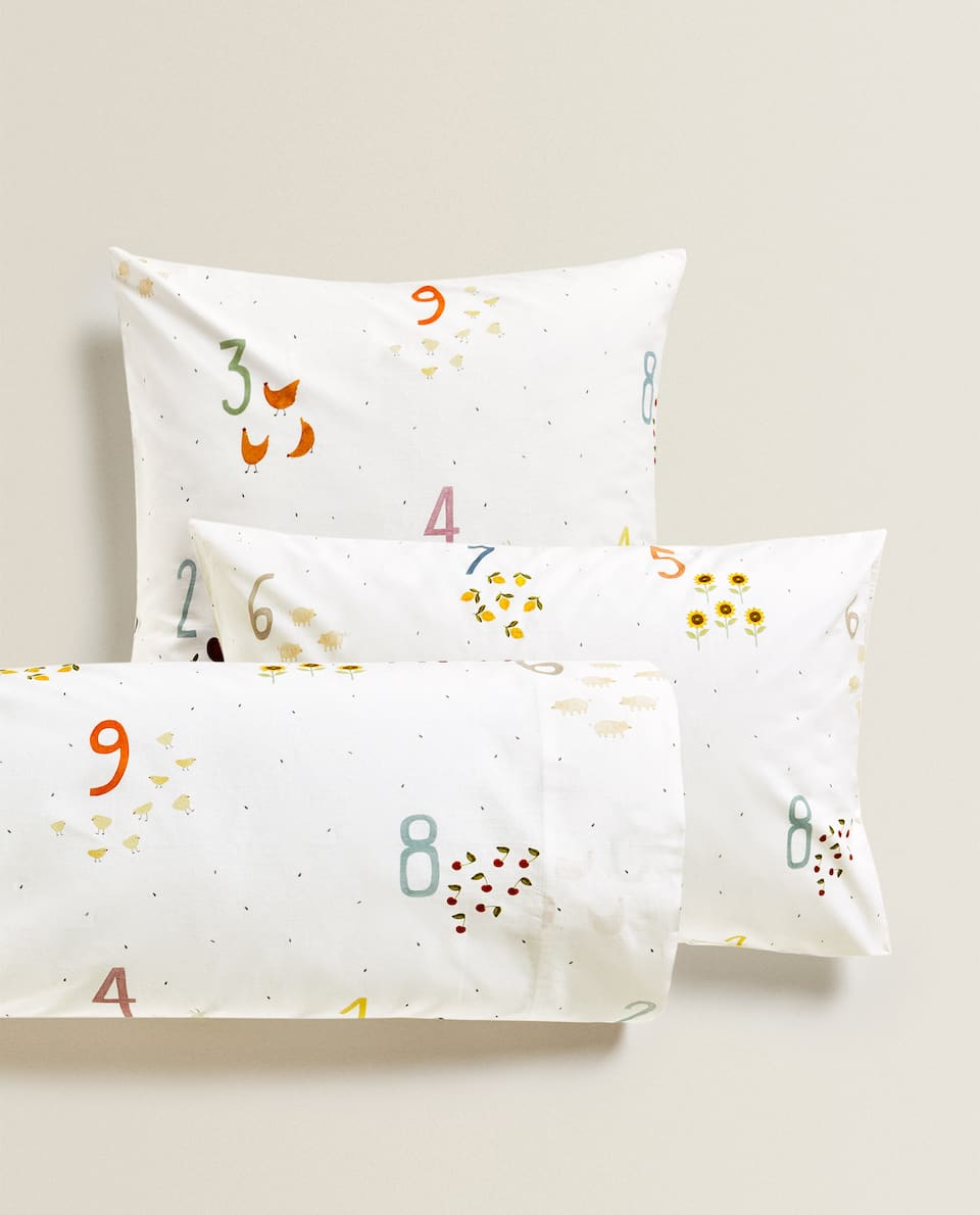 NUMBER PRINT PILLOWCASE