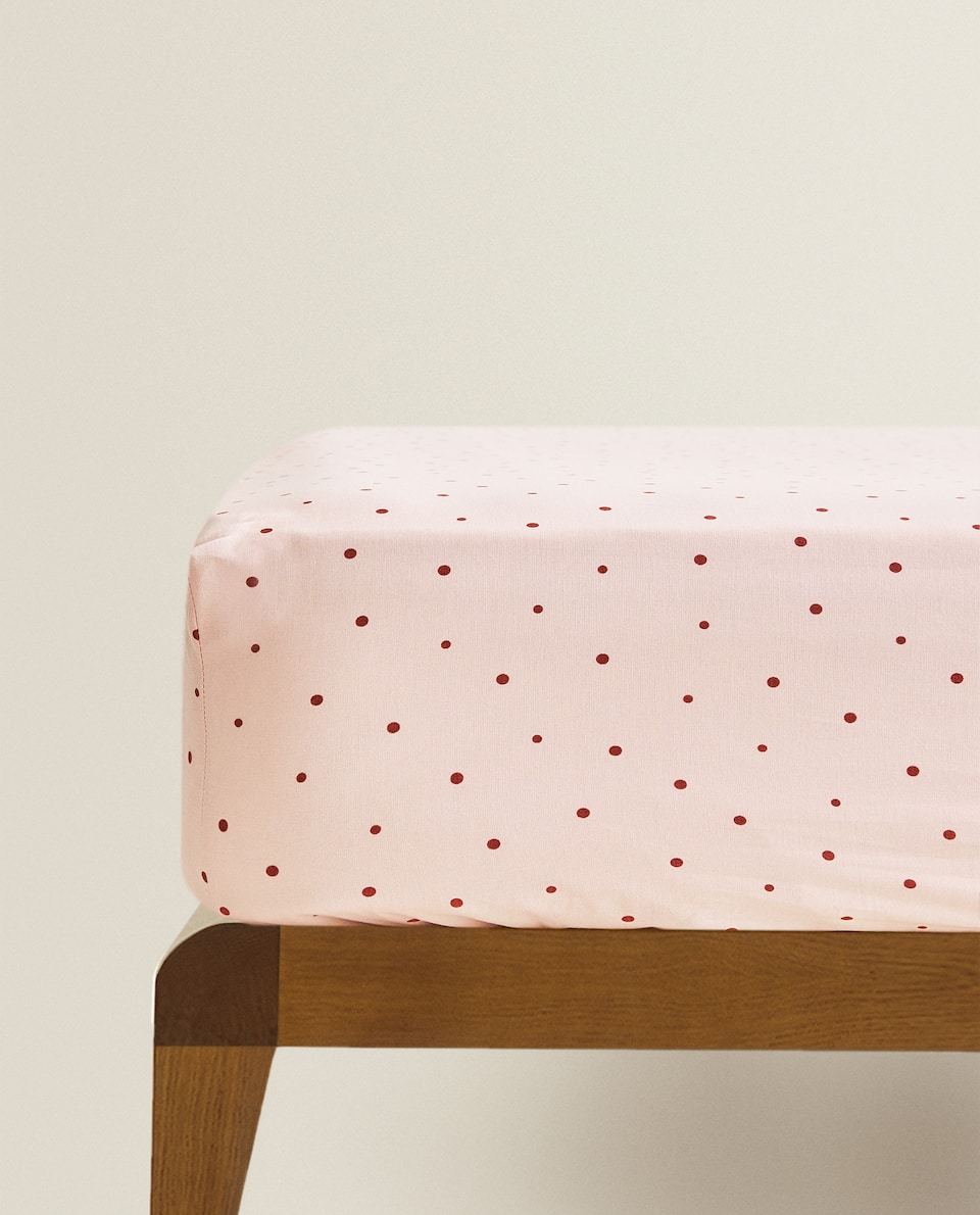 POLKA-DOT FITTED SHEET