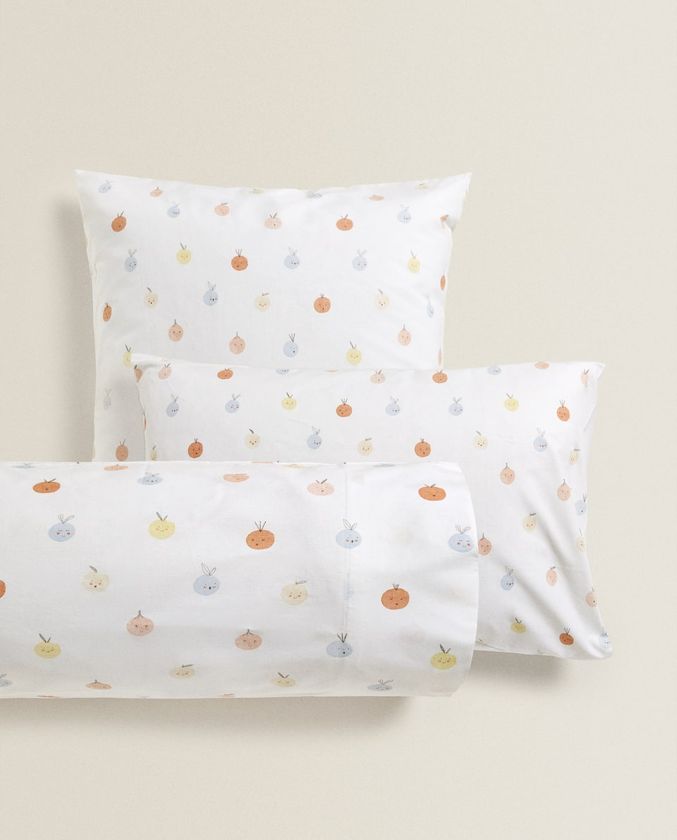 FRUIT PRINT PILLOWCASE