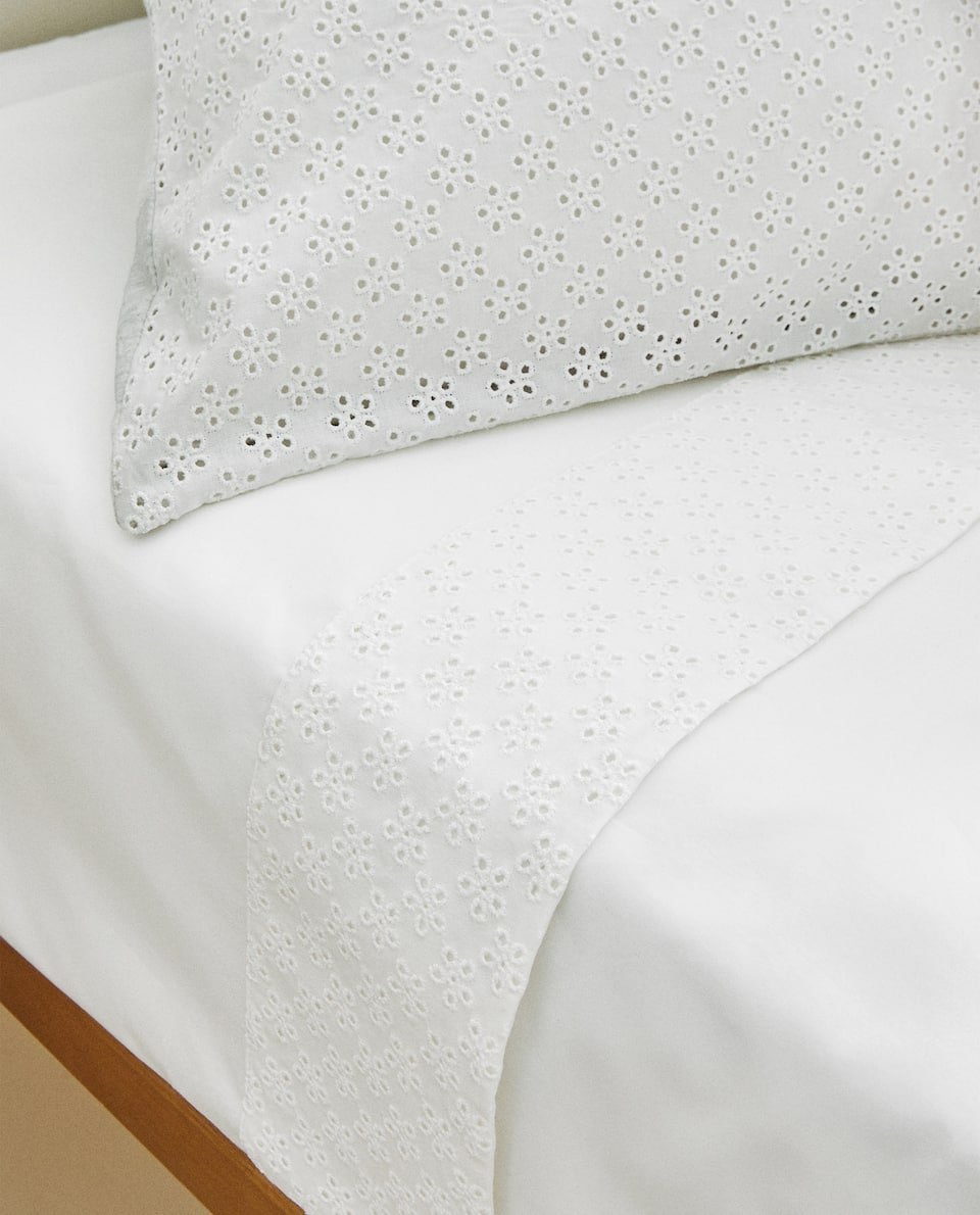 EMBROIDERED JERSEY FABRIC DUVET COVER