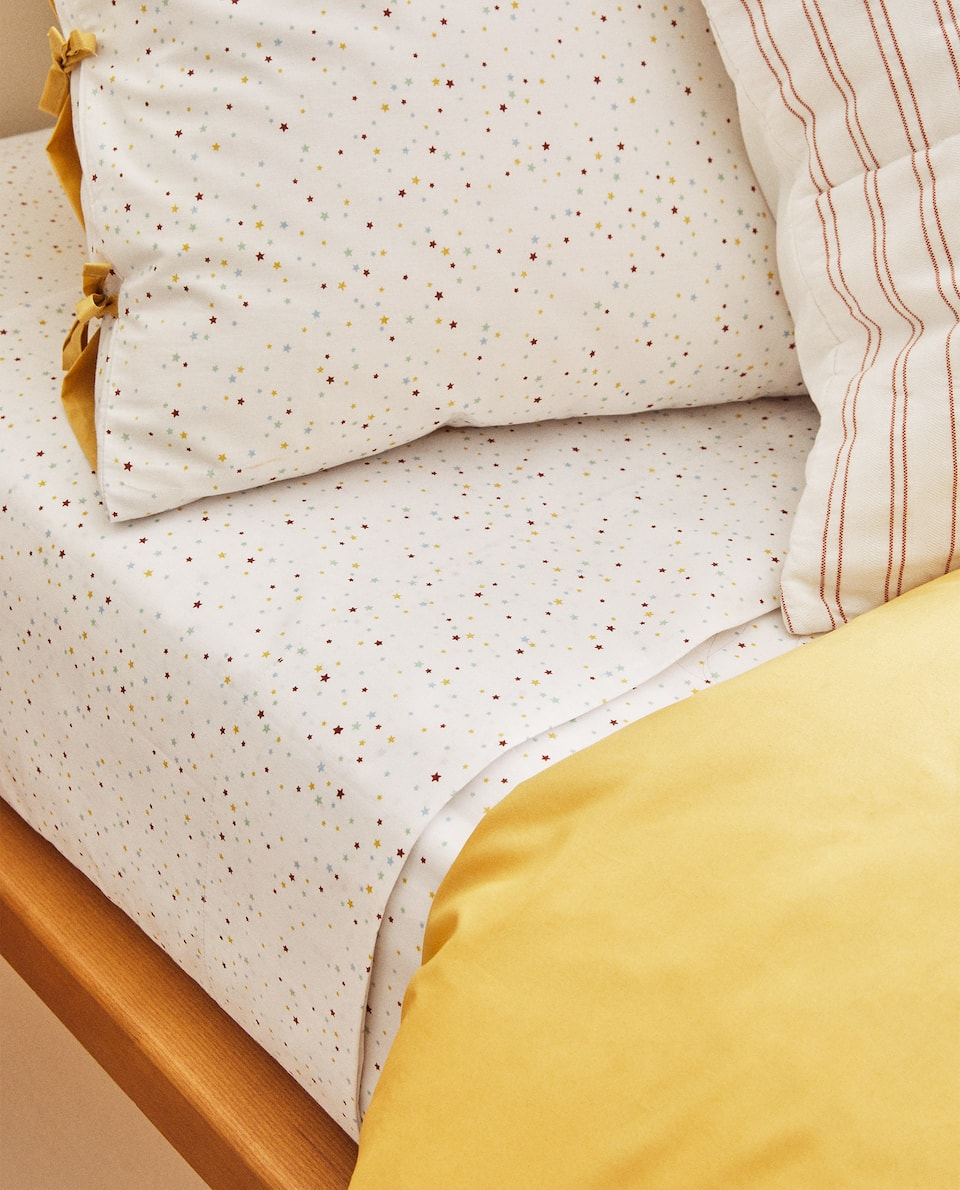 REVERSIBLE STAR PRINT DUVET COVER