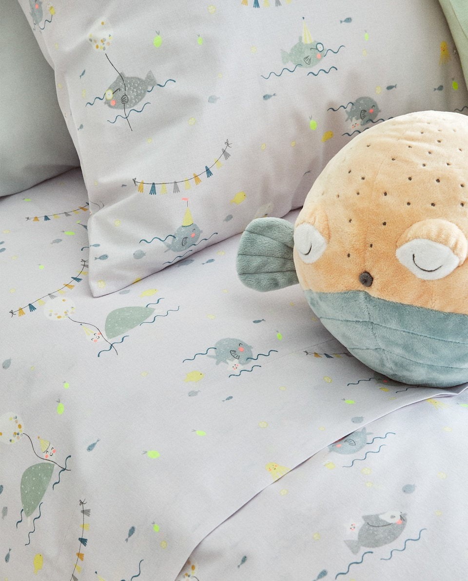 FISH PRINT DUVET COVER