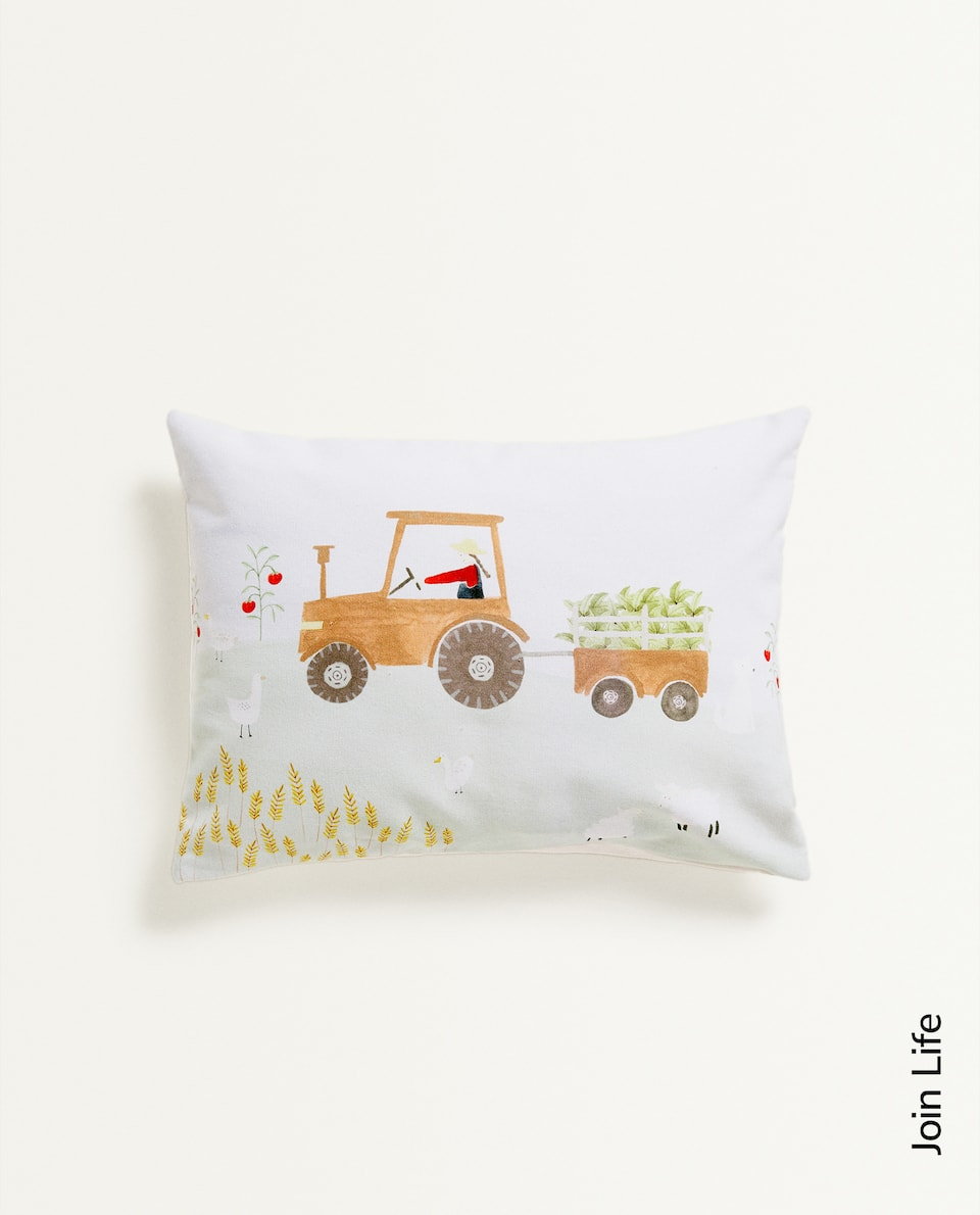 FARM DESIGN CUSHION COVER