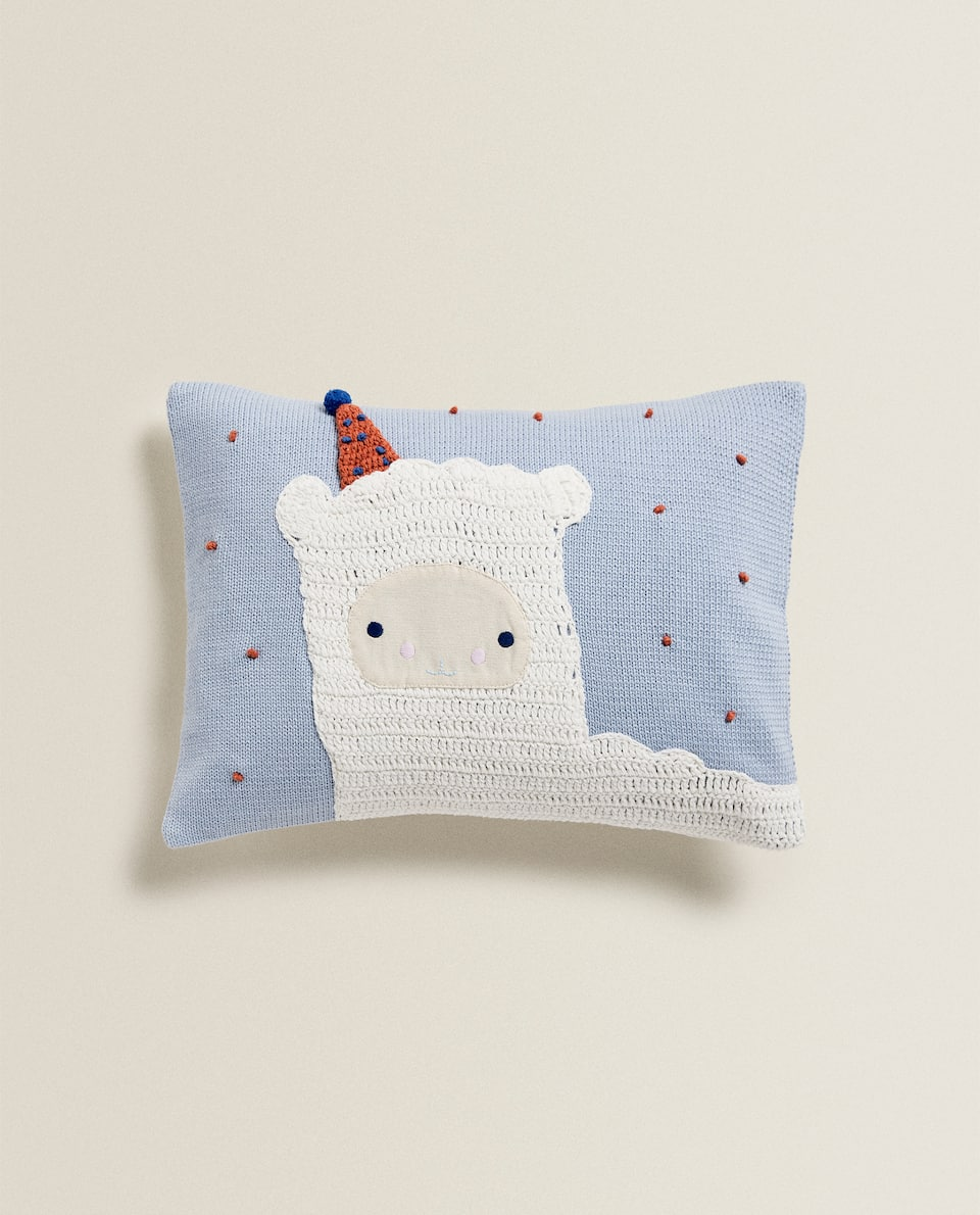 EMBROIDERED SHEEP CUSHION COVER