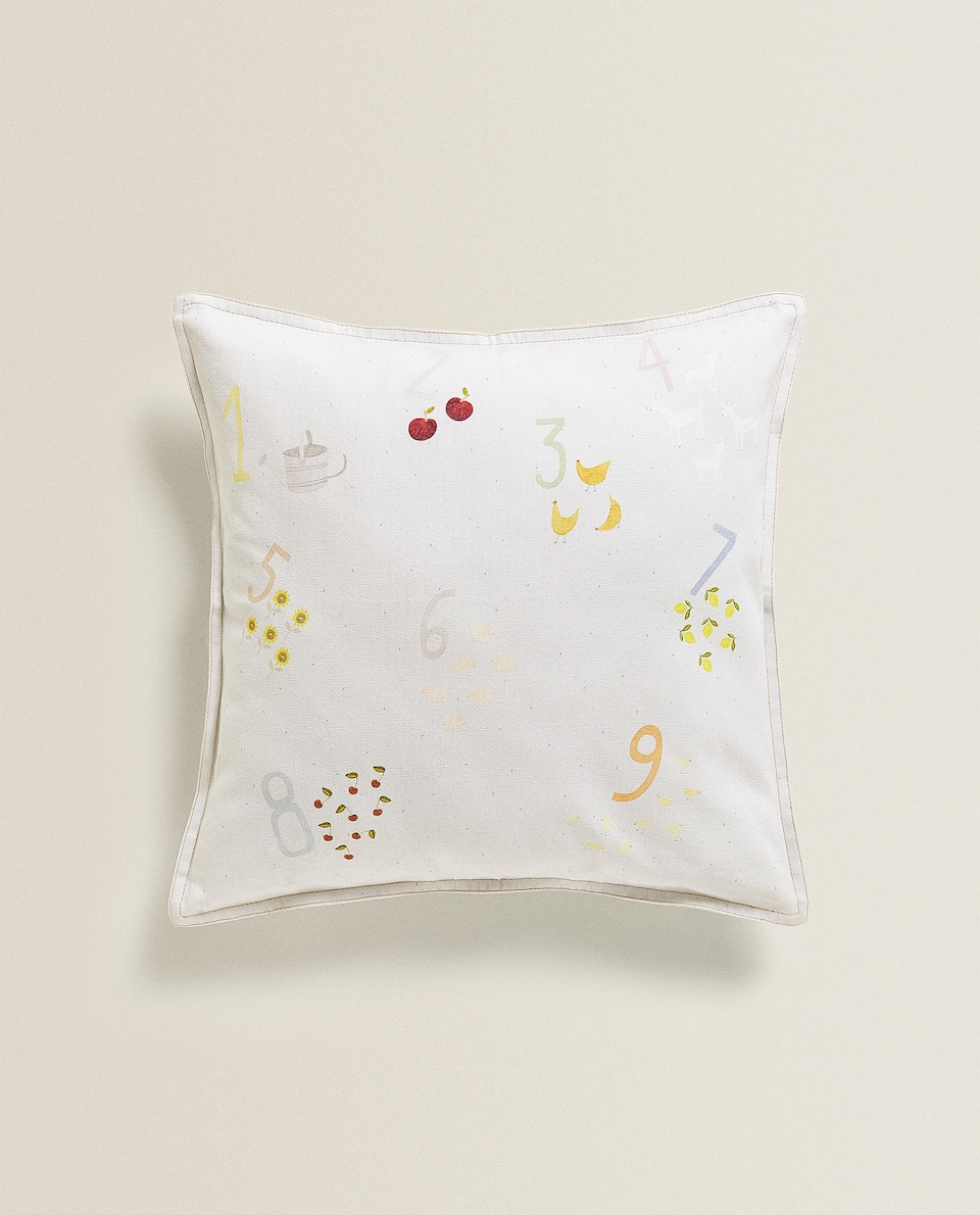 CUSHION COVER WITH NUMBERS