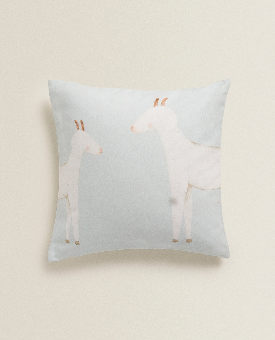 GOAT CUSHION COVER