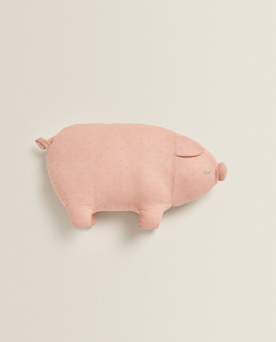 PIGGY-SHAPED CUSHION