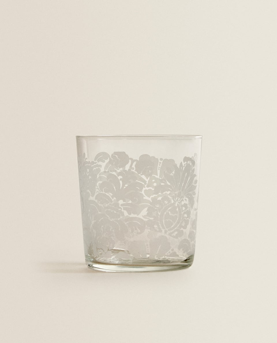 FLORAL SCREEN-PRINTED TUMBLER