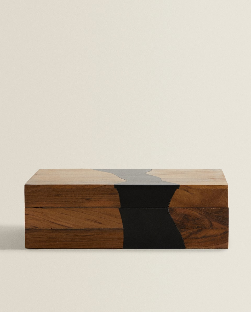 TWO-TONE TEAK BOX