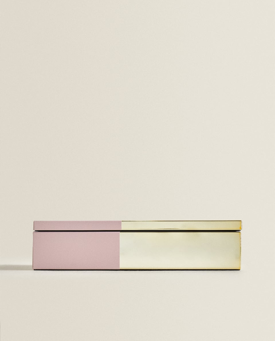 TWO-TONED METALLIC BOX