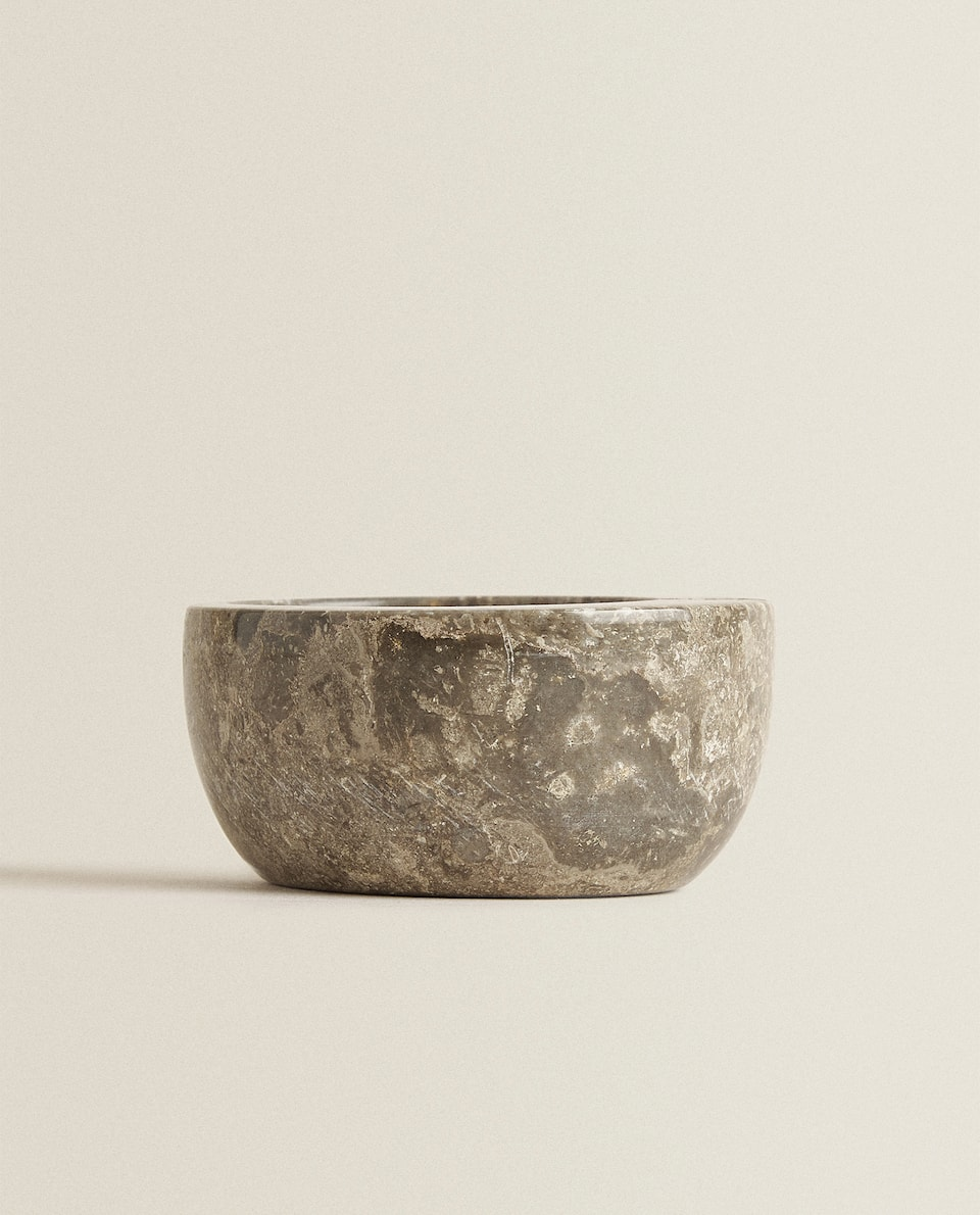 GREY MARBLE ASHTRAY