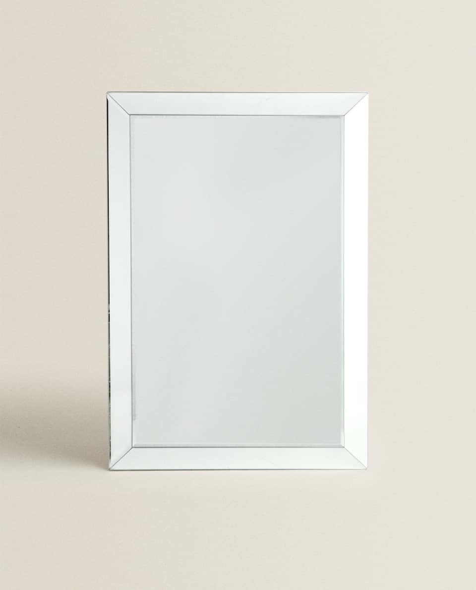 MIRROR WITH RAISED DESIGN