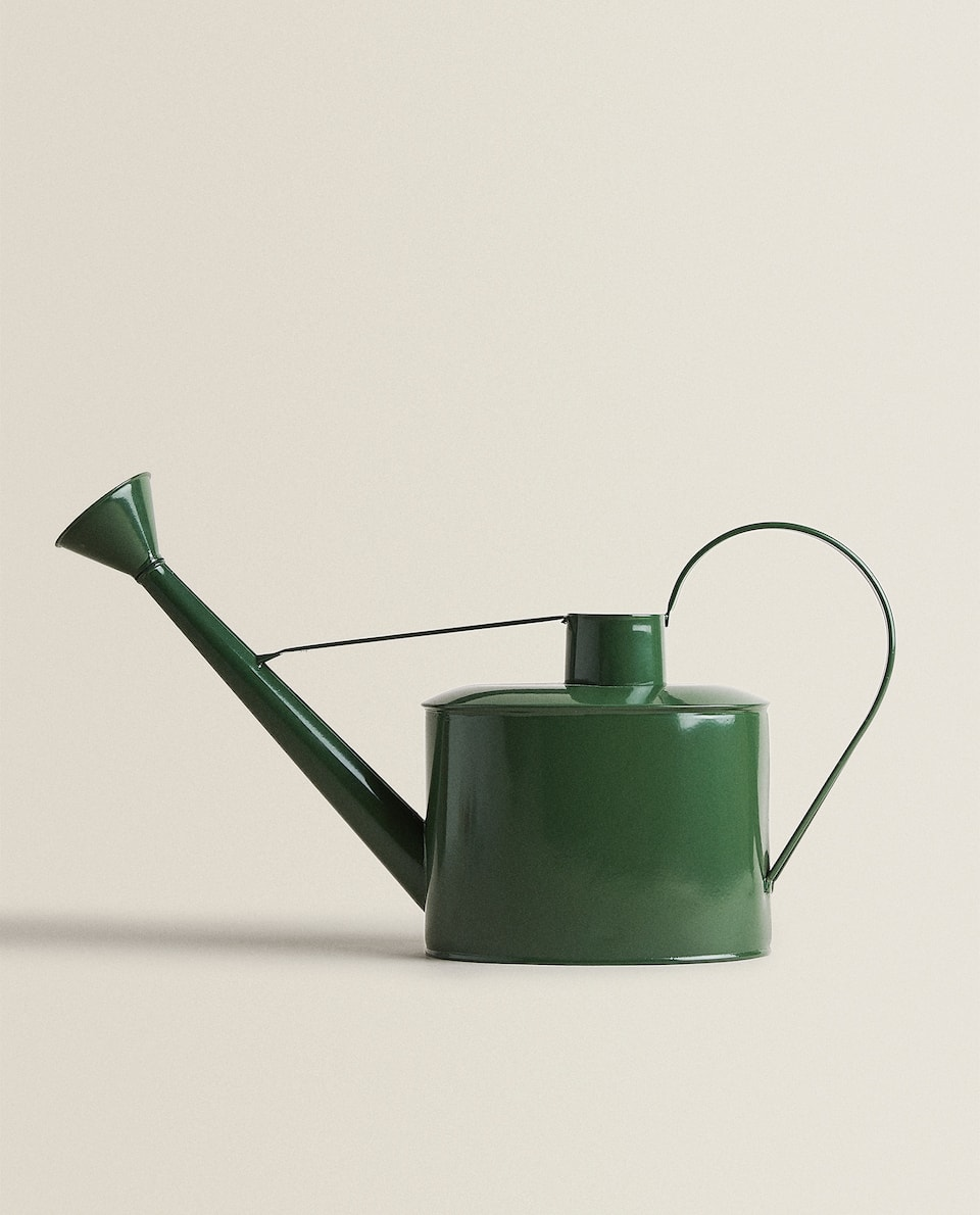 GREEN IRON WATERING CAN