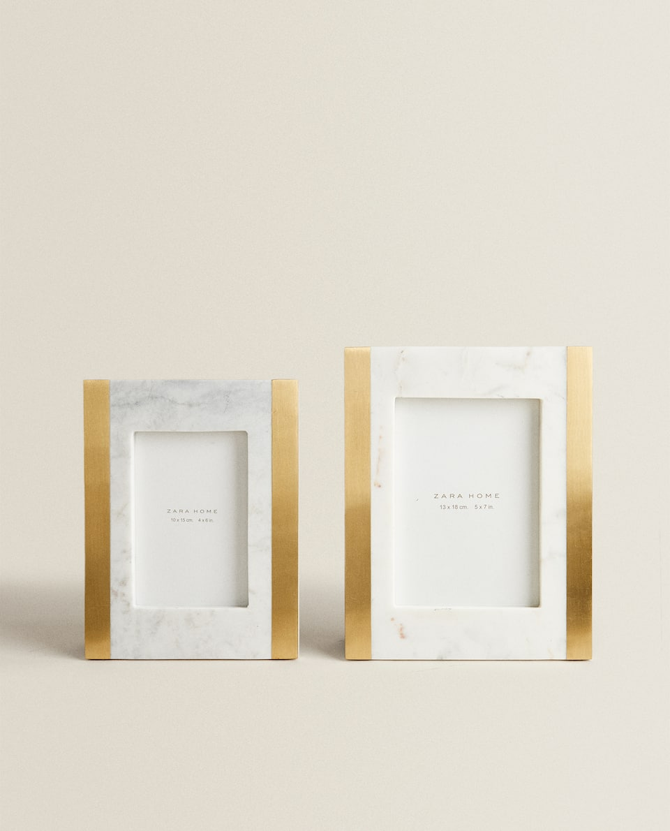 MARBLE AND METAL FRAME