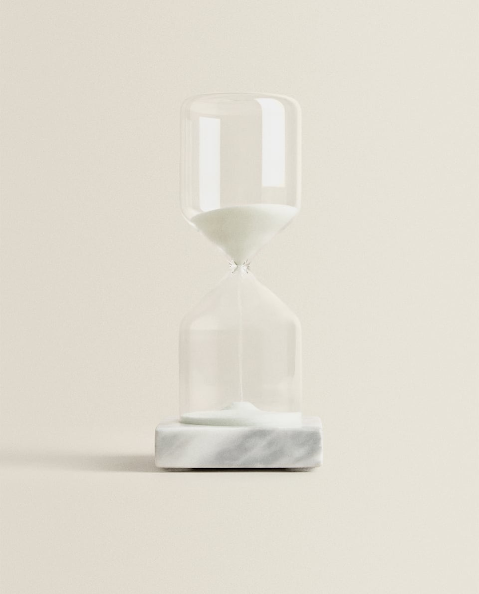 HOURGLASS WITH MARBLE BASE