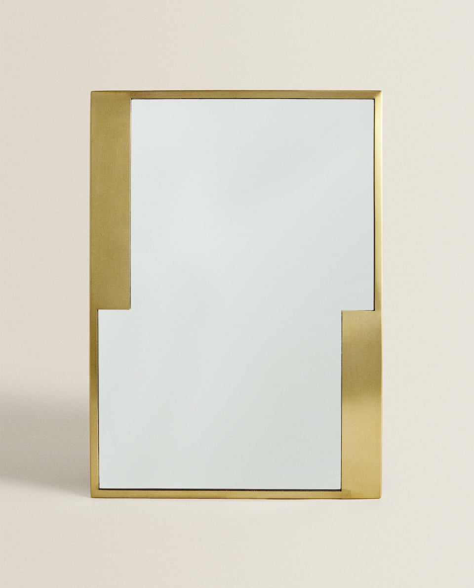 RECTANGULAR BRASS MIRROR